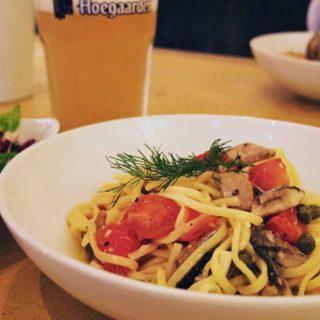 秋刀魚とトマトのパスタ